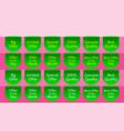 offer ribbon set green banner quality label vector image