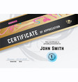 official white certificate with black gold design vector image vector image