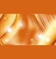 orange golden flowing liquid abstract vector image vector image