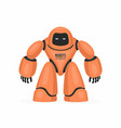 orange robot vector image vector image