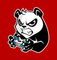 panda playing game vector image