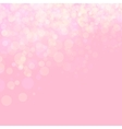 Pink shines wedding love bokeh vector image vector image