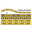 police tapes yellow ribbon seamless brush stop vector image