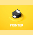 printer isometric icon isolated on color vector image