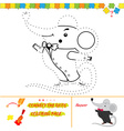 Puzzle for kids Mouse character vector image