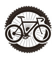 racing bicycle with wheel vector image vector image