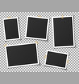 realistic photo frames vintage empty photos frame vector image vector image