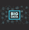 rectangle banner for big data vector image