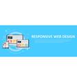 responsive web design including laptop desktop vector image vector image