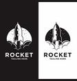 rocket launch graphic ship vector image vector image