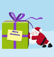 Santa move a great gift vector image vector image