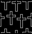 seamless pattern simple white christian crosses vector image