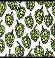 seamless with hops beer pattern isolated on a vector image vector image