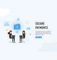 secure payments web site page poster vector image