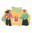 shopping assistant help customer vector image vector image