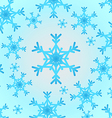 snowflake white and blue vector image vector image