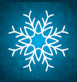 snowflake winter and christmas design vector image vector image