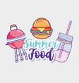 summer foood and juice vector image