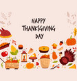 thanksgiving design with holiday symbols turkey vector image vector image