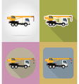 transport flat icons 23 vector image