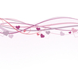Valentine banner vector image vector image