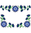 Vintage of blue flowers and leaves EPS10 vector image vector image