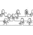 walking cartoon business men vector image vector image