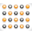 website interface buttons vector image vector image
