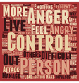 Why Do We Need to Control Anger text background vector image vector image