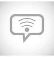 Wi-Fi grey message icon vector image vector image