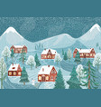 winter landscape background nature night vector image