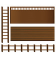 wooden fence and walls vector image vector image