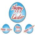 Easter set eggs vector image