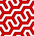 3D colored deep red diagonal fence vector image