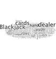 an easy way to become a good blackjack player vector image vector image