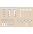 arcades - roman gothic vector image vector image