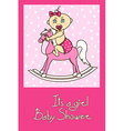 Baby shower invitation card vector image vector image