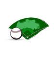 baseball sport game ball and diamond play field