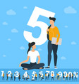 big five number vector image vector image