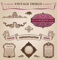 Calligraphic elements vintage vector | Price: 1 Credit (USD $1)