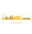 Cannes City skyline golden silhouette vector image vector image