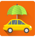 Car protection icon car Insurance vector image vector image