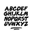 Cartoon comic graffiti doodle font alphabet vector image vector image