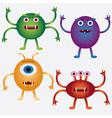cartoon microbes vector image vector image