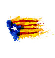 catalonia blue estrelada flag made colorful vector image vector image