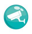 cctv camera button icon vector image vector image