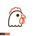 chicken icon animal head vector image vector image