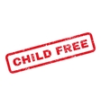 Child Free Text Rubber Stamp vector image vector image