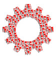 cogwheel composition of flag icons vector image vector image