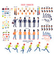 create character set of different body parts vector image